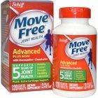 Move Free здоровье суставов глюкозамин и хондроитин плюс МСМ
